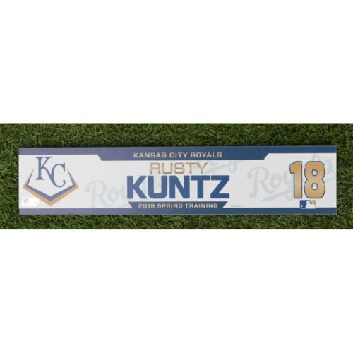 Photo of Team-Issued Spring Training Locker Tag: Rusty Kuntz