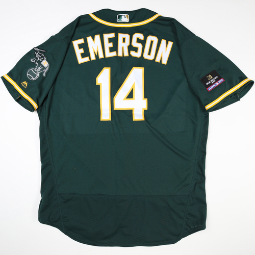 2019 Japan Opening Day Series - Game Used Jersey - Scott Emerson, Oakland Athletics at Nippon Ham Fighters -3/17/2019
