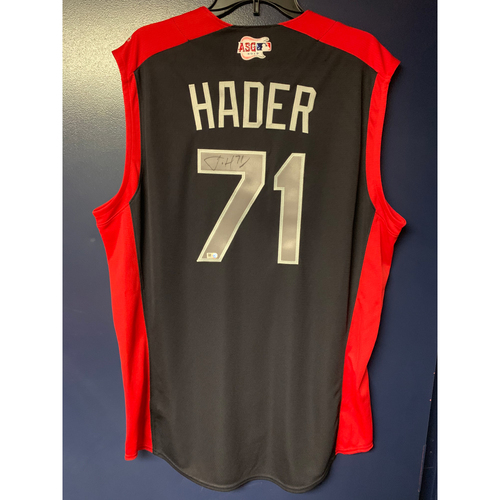 Photo of Josh Hader 2019 Major League Baseball Workout Day Autographed Jersey