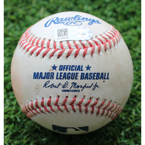 Photo of Game-Used Baseball:  Matt Boyd Pitched 540th Career Strikeout (DET @ KC - 7/13/19)