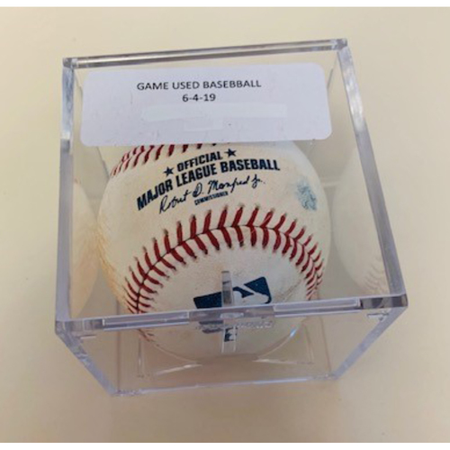 Game-Used Baseball: Guillermo Heredia Single