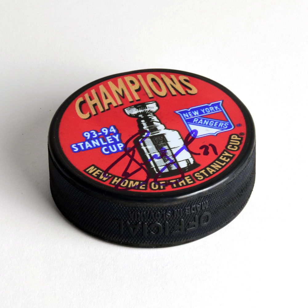 Alexei Kovalev New York Rangers Autographed 1994 Stanley Cup Hockey Puck