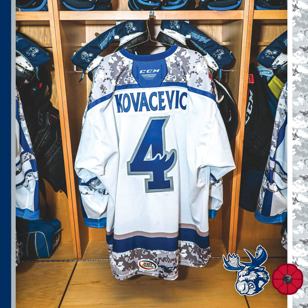 JOHNATHAN KOVACEVIC Game Worn Remembrance Day Jersey