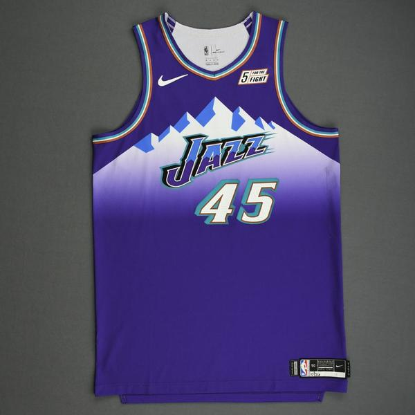 Image of Donovan Mitchell - Utah Jazz - Game-Worn Classic Edition 1996-04 Road Jersey - 2019-20 Season