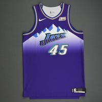 Donovan Mitchell - Utah Jazz - Game-Worn Classic Edition 1996-04 Road Jersey - 2019-20 Season