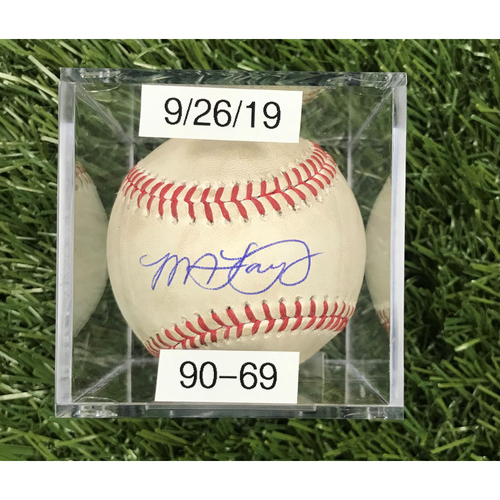 Win #90: 9/26/2019 Game-Used Baseball - Autographed by Michael A. Taylor