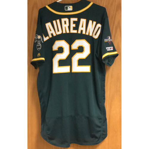 Photo of Game-Used Jersey w/ 2019 Postseason Patch - Ramon Laureano: HR #22 - 9/13/19