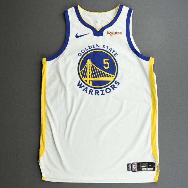 Image of Kevon Looney - Golden State Warriors - Game-Worn Association Edition Jersey - Christmas Day' 20