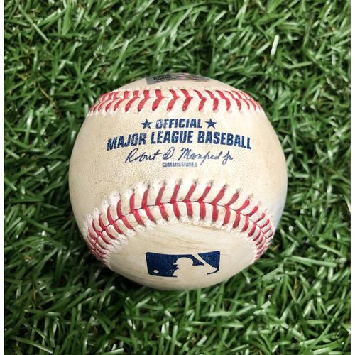 Game Used Baseball: Xander Bogaerts foul ball off Blake Snell - September 11, 2020 v BOS