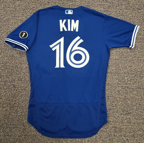 Photo of Authenticated Team Issued Jersey: #16 Gil Kim (2020 Season). Set 2. Size 40.