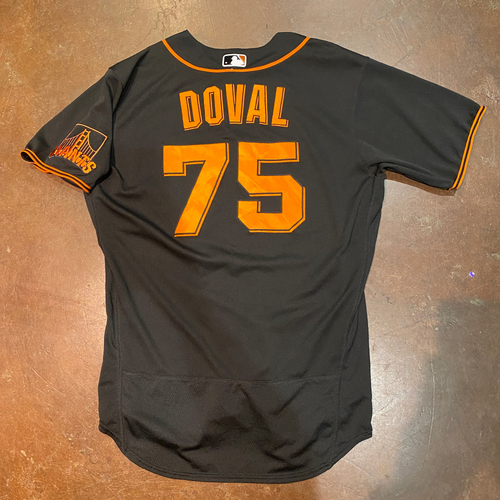 Photo of 2021 Team Issued Black Home Alt Jersey - #75 Camilo Doval - Size 46