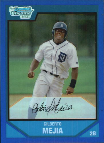 Photo of 2007 Bowman Chrome Prospects Blue Refractors #BC60 Gilberto Mejia