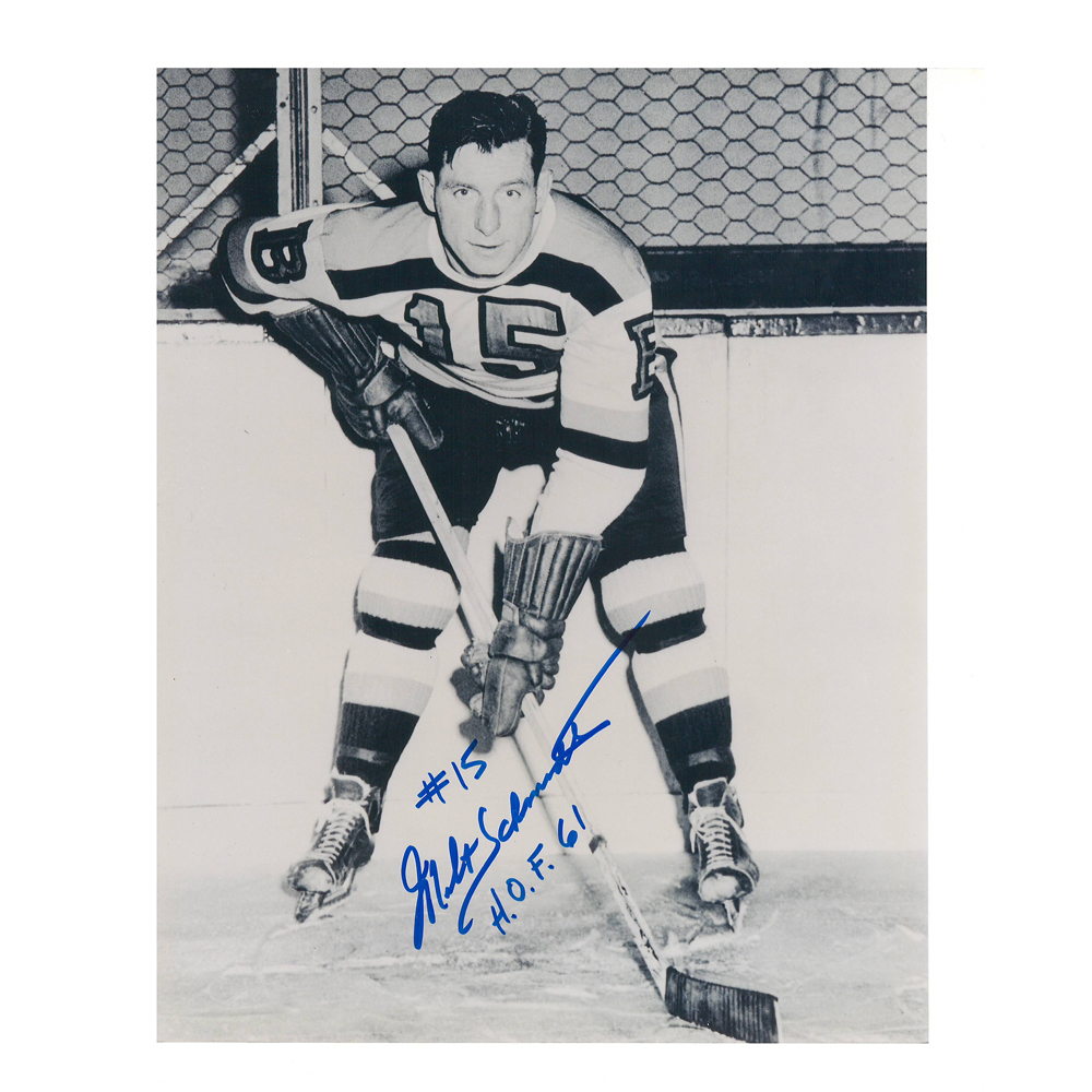 MILT SCHMIDT Signed Boston Bruins 8 X 10 Photo - 70085