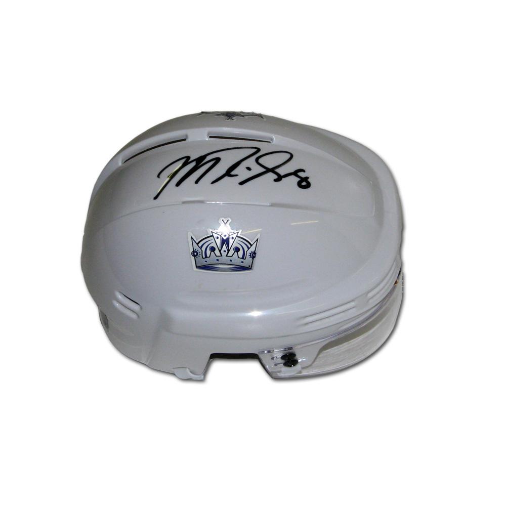 MIKE RICHARDS Signed Los Angeles Kings White Mini Helmet