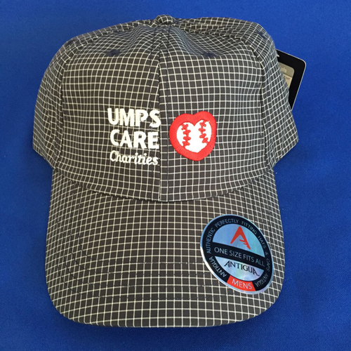 UMPS CARE AUCTION: Black and White Adjustable UMPS CARE Hat by Antigua