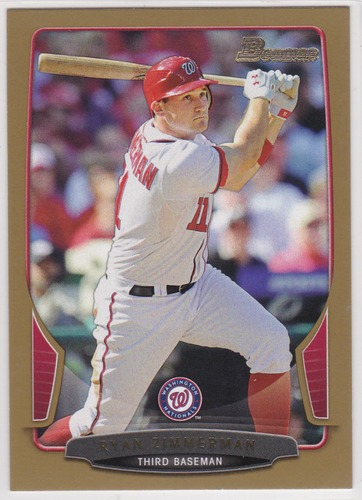 Photo of 2013 Bowman Gold #60 Ryan Zimmerman