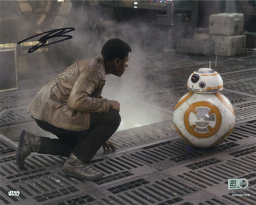 John Boyega as Finn 8x10 Autographed in Black Ink Photo
