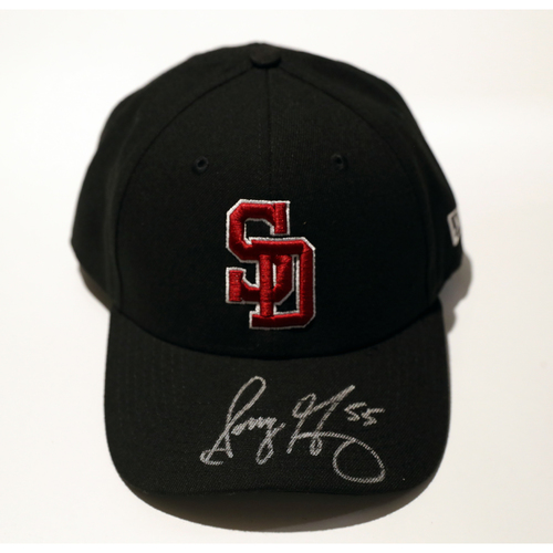 Photo of Sonny Gray Autographed, Game-Used Stoneman Douglas Eagles Cap