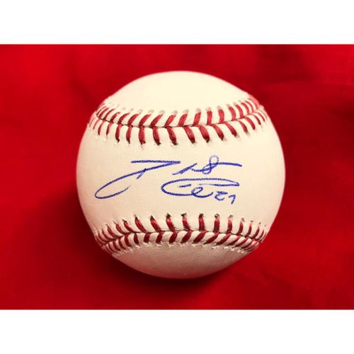 Photo of Phillip Ervin -- Autographed Baseball