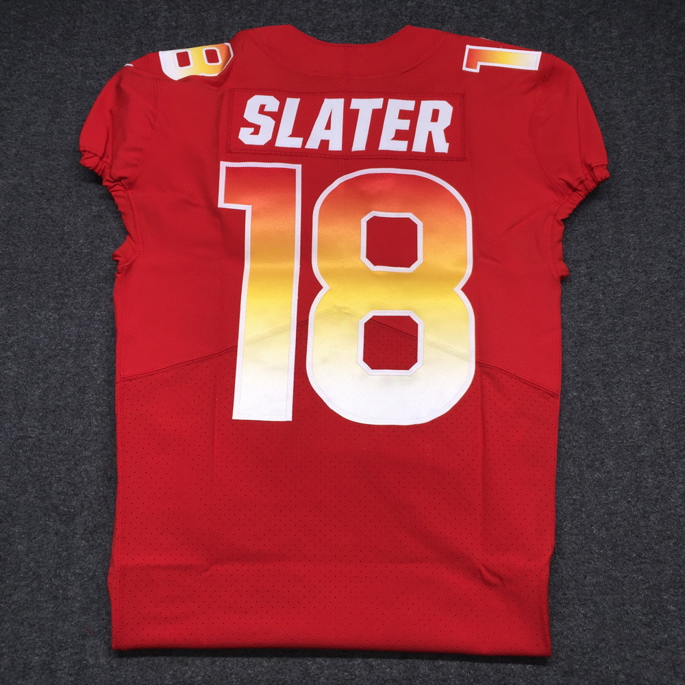 NFL - PATRIOTS MATTHEW SLATER 2018 GAME ISSUED AFC PRO BOWL JERSEY - SIZE 40