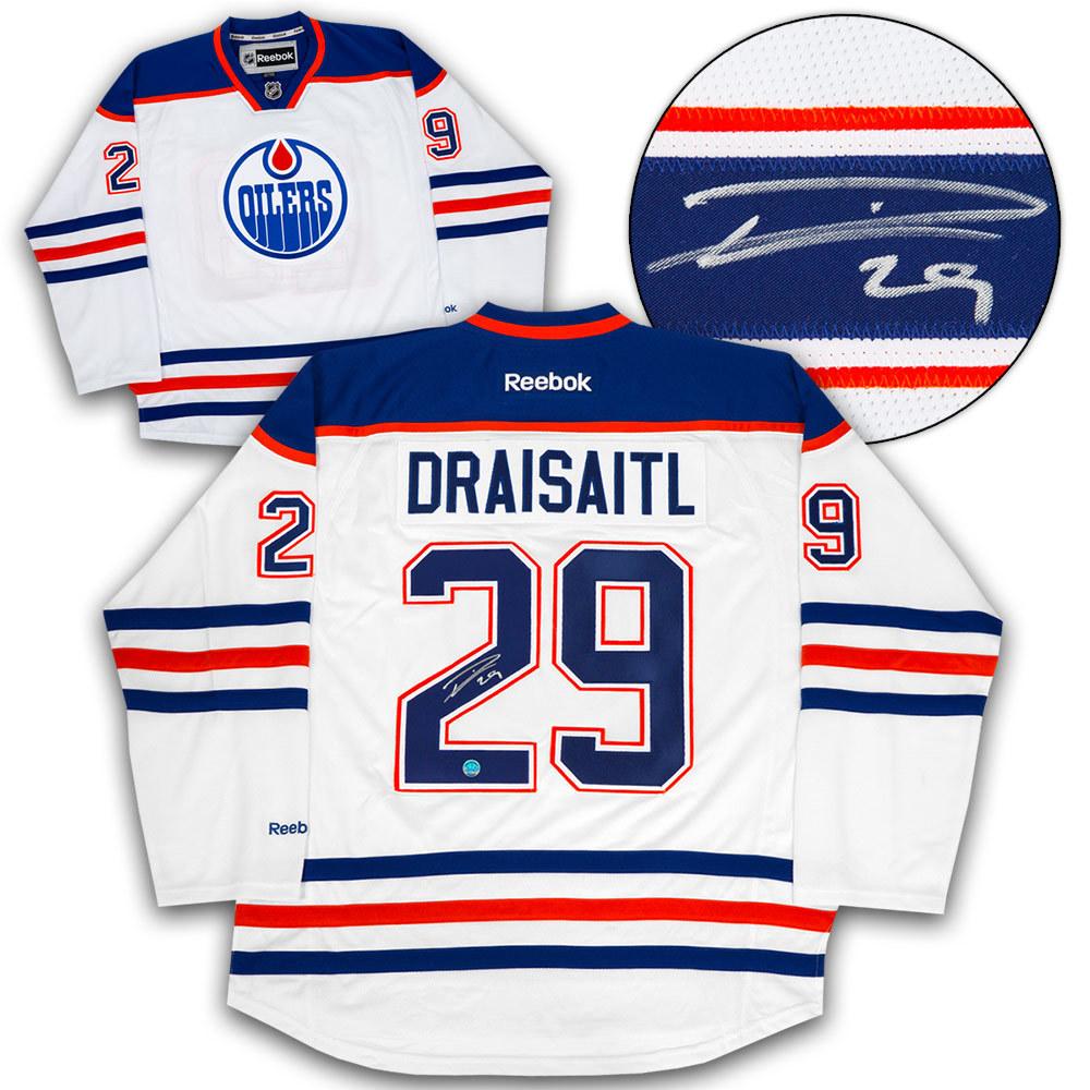 Leon Draisaitl Edmonton Oilers Autographed Rookie Reebok Premier Hockey Jersey
