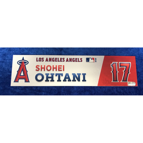 Photo of Shohei Ohtani Game-Used 2018 Locker Tag