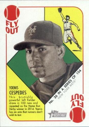 Photo of 2015 Topps Heritage '51 Collection #36 Yoenis Cespedes