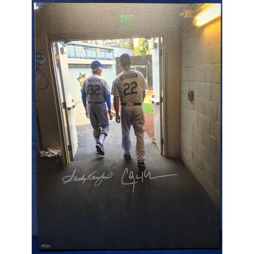 Photo of Kershaw's Challenge: Sandy Koufax and Clayton Kershaw Autographed Photo Canvas