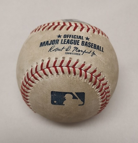 Photo of Authenticated Game Used Baseball - Brock Holt RBI Double against Aaron Sanchez (April 25, 2018; Top 5).