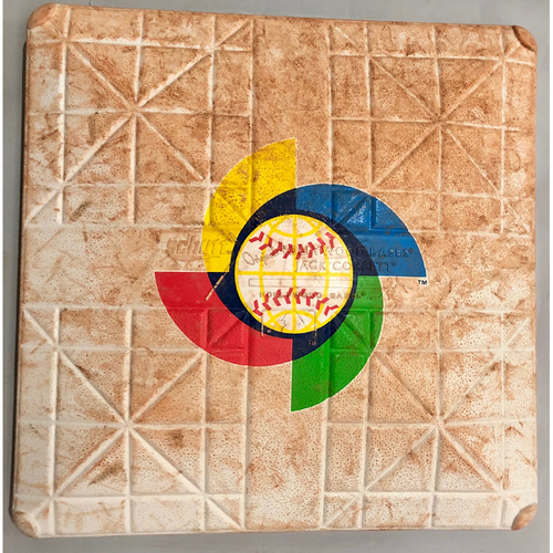 Photo of 2017 World Baseball Classic Game Used Base- 1st Base (Innings 1-6) (China at Cuba)