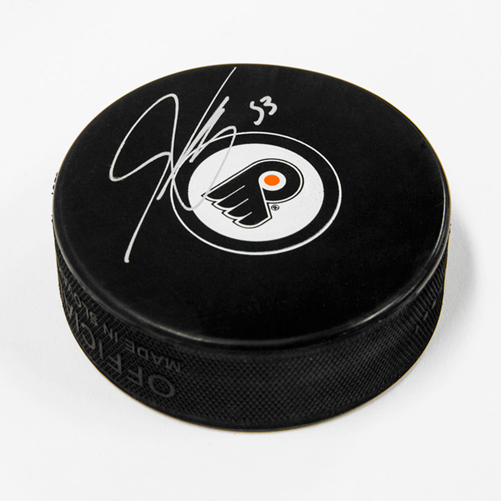 Shayne Gostisbehere Philadelphia Flyers Signed Autograph Model Hockey Puck