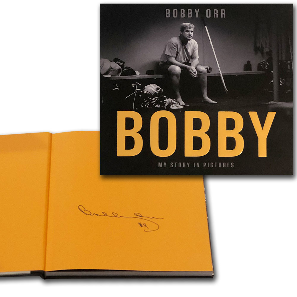 Bobby Orr Autographed BOBBY Hardcover Book