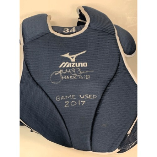 Photo of Autographed Game-Used Chest Protector James McCann