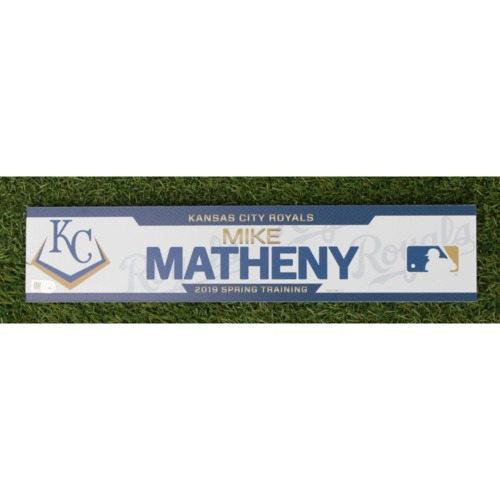 Photo of Team-Issued Spring Training Locker Tag: Mike Matheny