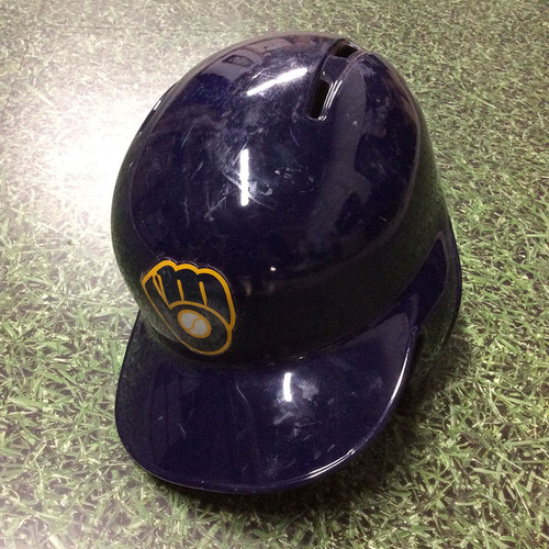 Photo of Keston Hiura 2018 Team-Issued Spring Training Batting Helmet