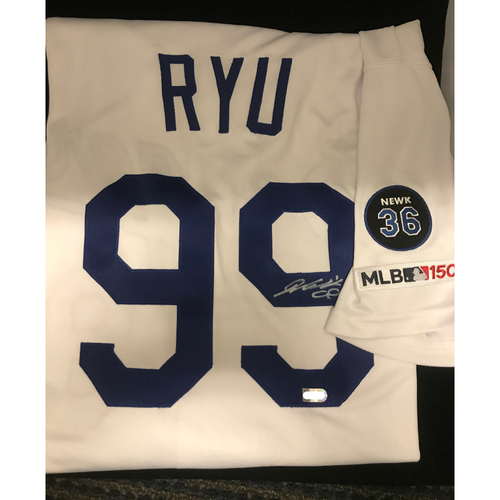Photo of Hyun-Jin Ryu Authentic Autographed Los Angeles Dodgers Jersey