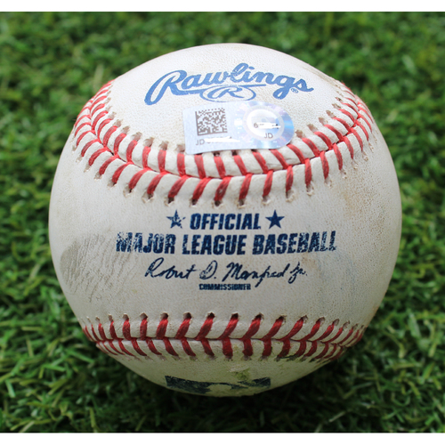 Photo of Game-Used Baseball: Jordan Luplow 15th Career Double (CLE @ KC - 7/27/19)
