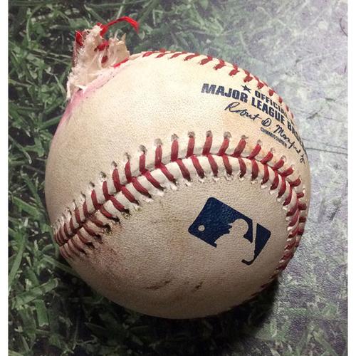 Photo of Game-Used Baseball ATL@MIL 07/16/19 - Jay Jackson - Josh Donaldson: Foul