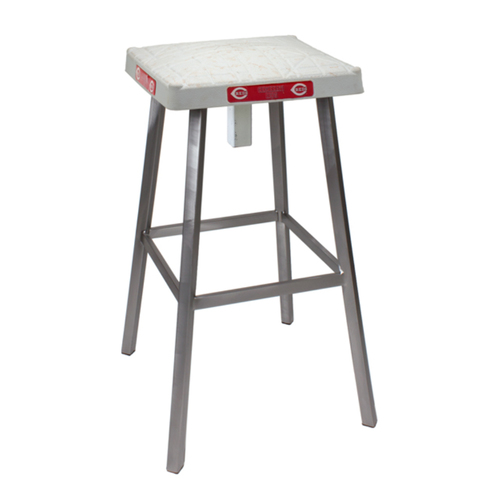 Photo of Tokens & Icons Cincinnati Reds Game Used Base Stool