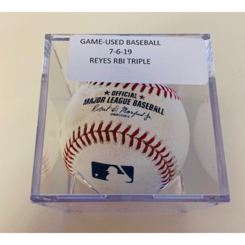 Photo of Game-Used Baseball: Victor Reyes RBI Triple
