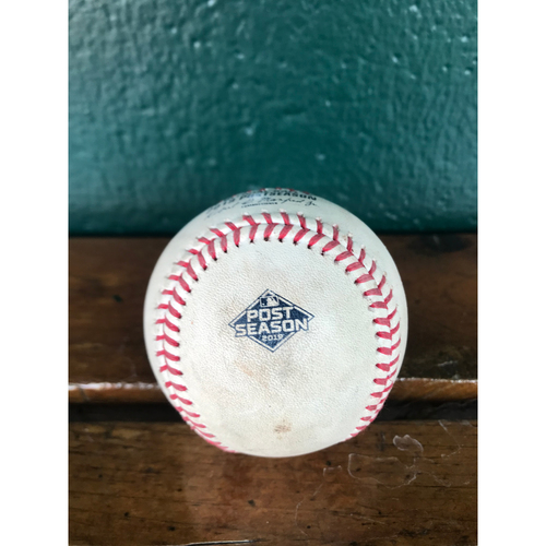Photo of Cardinals Authentics: Game Used Pitched Postseason Baseball by Carlos Martinez to Howie Kendrick and Ryan Zimmerman *Kendrick Walk, Zimmerman Ball in Dirt*