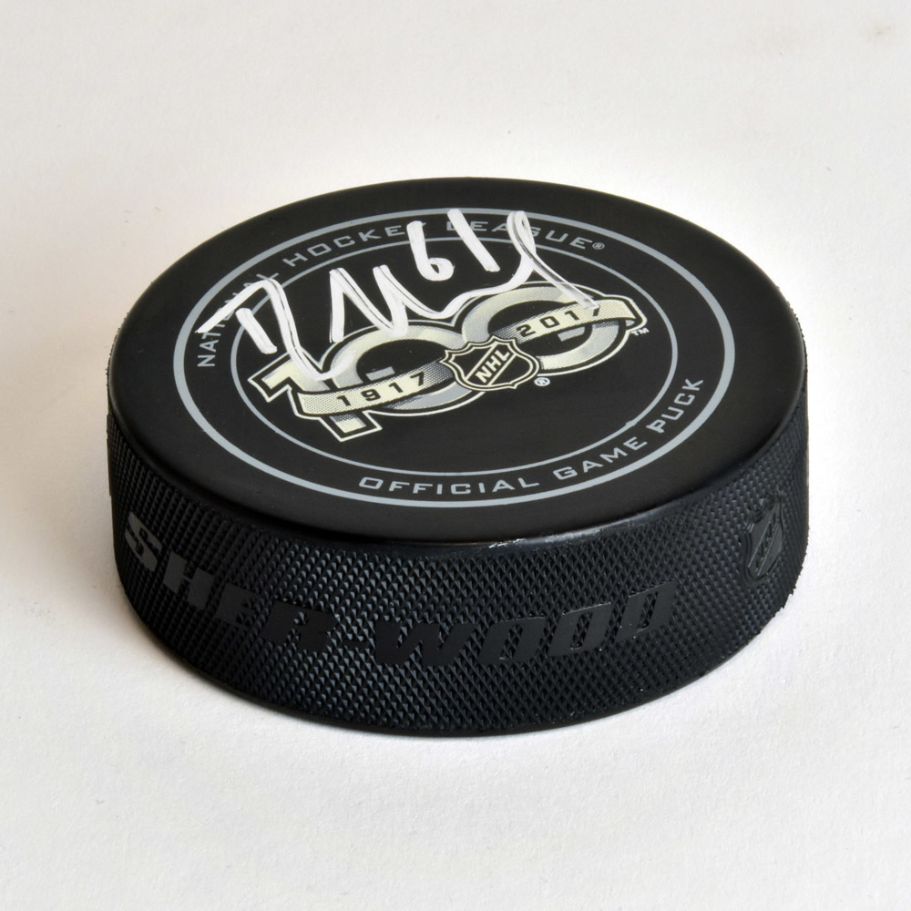 Rick Nash NHL Centennial Season Autographed 100 Years Official Game Puck