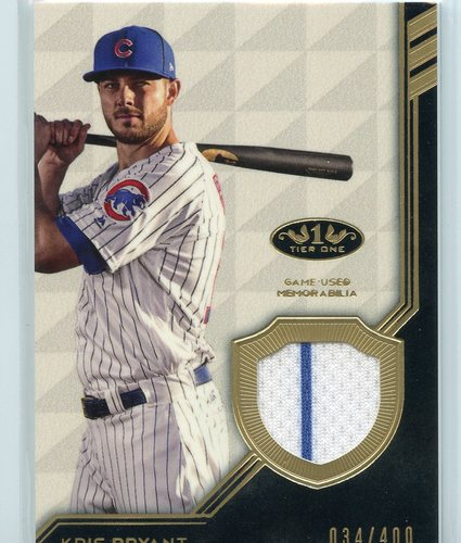 Photo of 2018 Topps Tier One Relics #T1RKB Kris Bryant 034/400