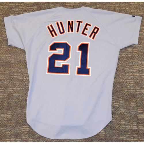 Photo of Brian Hunter Detroit Tigers #21 Road Jersey (NOT MLB AUTHENTICATED)