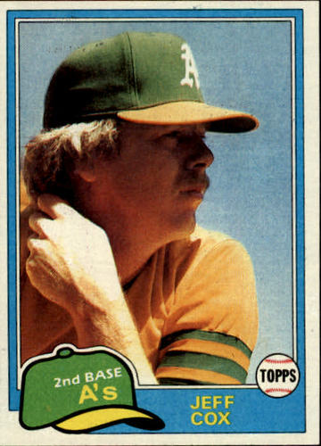 Photo of 1981 Topps #133 Jeff Cox RC