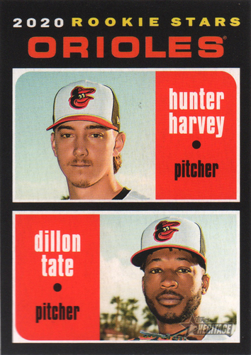 Photo of 2020 Topps Heritage #362 Dillon Tate RC/Hunter Harvey RC