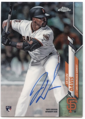 Photo of 2020 Topps Chrome Rookie Autographs Refractors #RAJDA Jaylin Davis 382/499