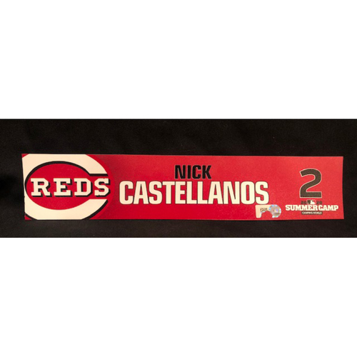 Nick Castellanos -- 2020 Sumer Camp Locker Tag -- Team-Issued