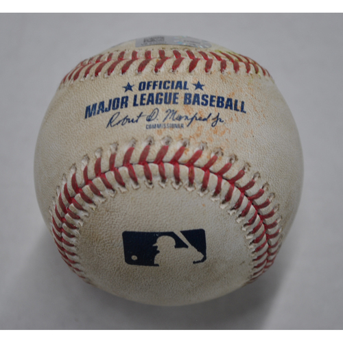 Photo of Game-Used Baseball - STL vs. PIT - 9/20/2020 - Pitcher - Jack Flaherty (STL), Batter - Bryan Reynolds, Bot 4, Double