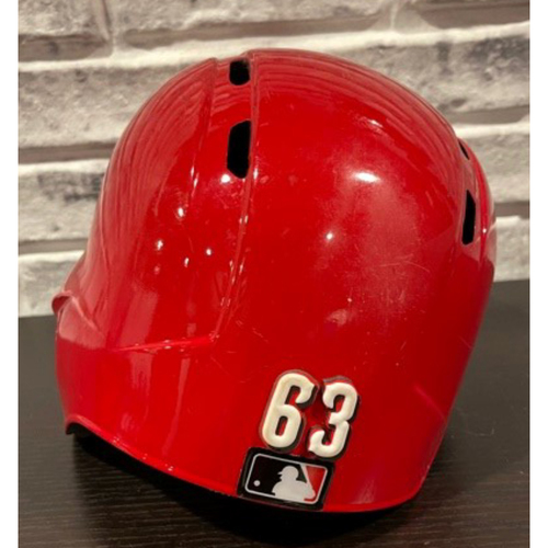 Photo of Keury Mella -- Team-Issued Helmet -- Left Ear Flap -- Size 7 1/4
